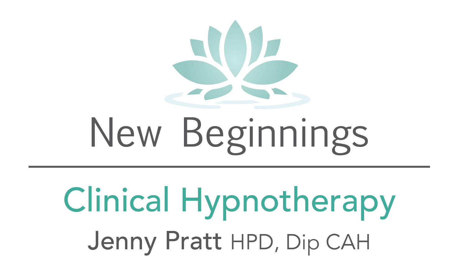 New beginnings jenny pratt clinical hypnotherapy, lotus logo